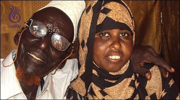 عجیب ترین زوج های جهان- احمد محمد و صفیه عبدالله- برنافیت