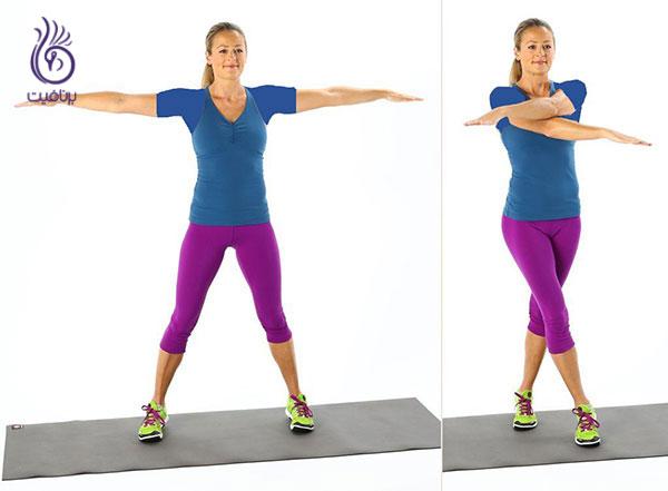 کاهش سایز بازو با ورزش- Scissors-exercise- برنافیت
