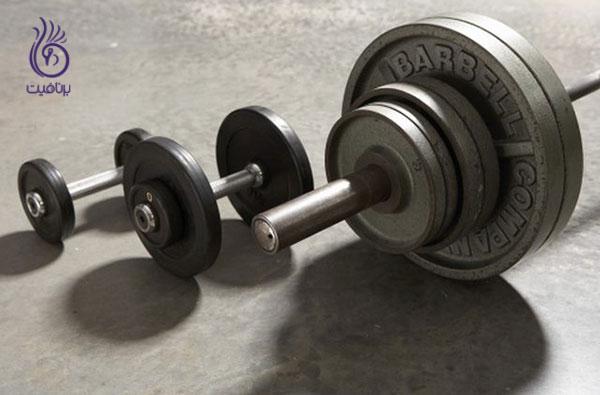 کاهش سایز بازو با ورزش- Weight-lifting- برنافیت