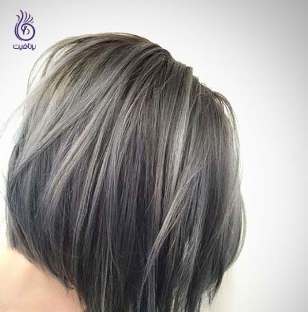 رنگ مو 2019- طوسی خاکستری- برنافیت