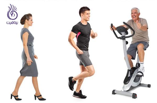 کوچک کردن شکم- ورزش کاردیو- برنافیت