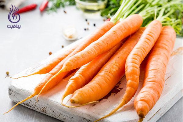کربوهیدرات های سالم- هویج- برنافیت