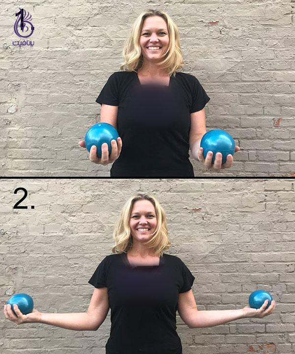 تقویت عضلات بازو - external rotation- برنافیت