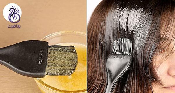 رنگ کردن مو در خانه- ماسک مو- برنافیت