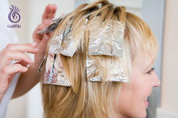 رنگ کردن مو در خانه- هایلایت موها- برنافیت