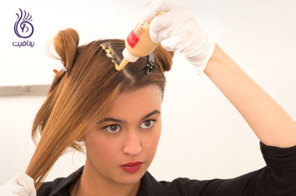 رنگ کردن مو در خانه- برنافیت