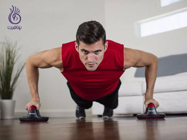 کاهش سایز بازو- push-ups- برنافیت