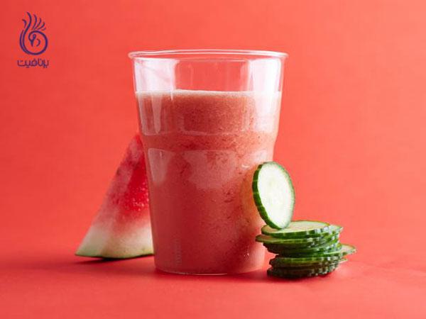 جوانسازی پوست- آب هندوانه و خیار برنافیت