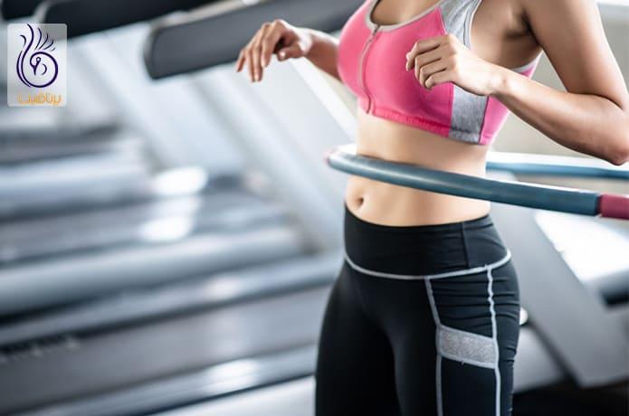 کاهش چربی های شکمی با حلقه زدن