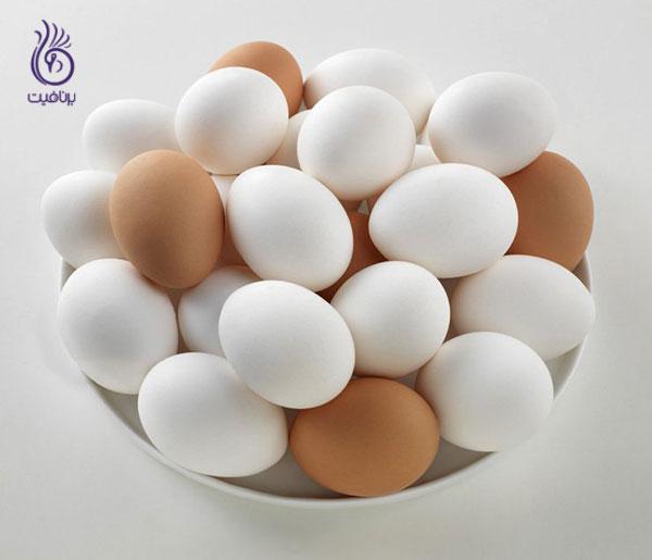 عضله سازی- تخم مرغ- برنافیت