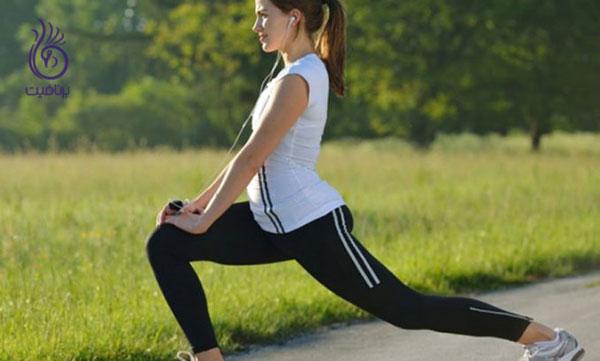 درمان سلولیت ران- ورزش منظم- برنافیت