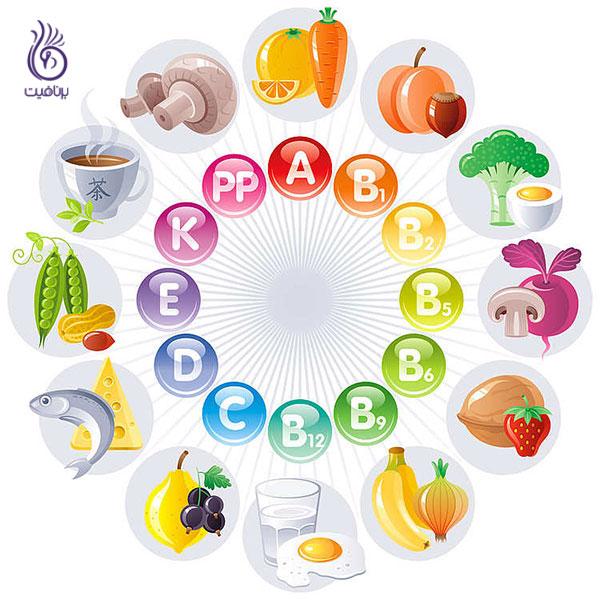 رژیم لاغری غذایی- ویتامین ها- برنافیت