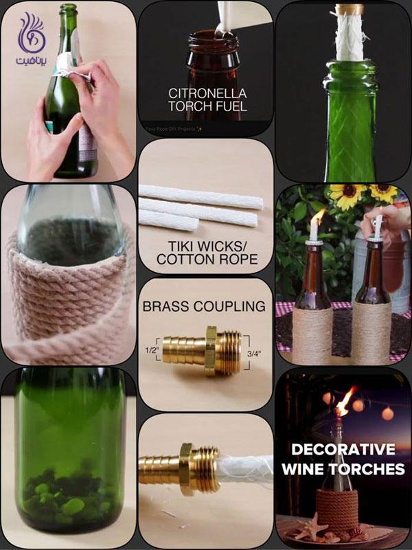 دکوراسیون خانه- بطری های تزئینی- برنافیت