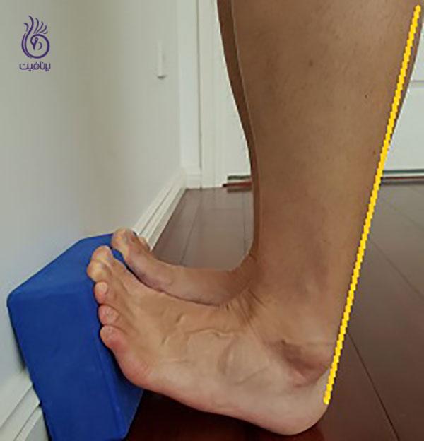 درمان کف پای صاف- gastrocnemius-streetch- برنافیت