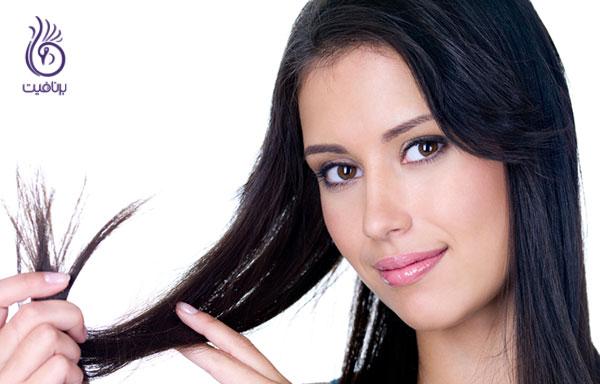 درمان موی چرب- برگ چای- برنافیت