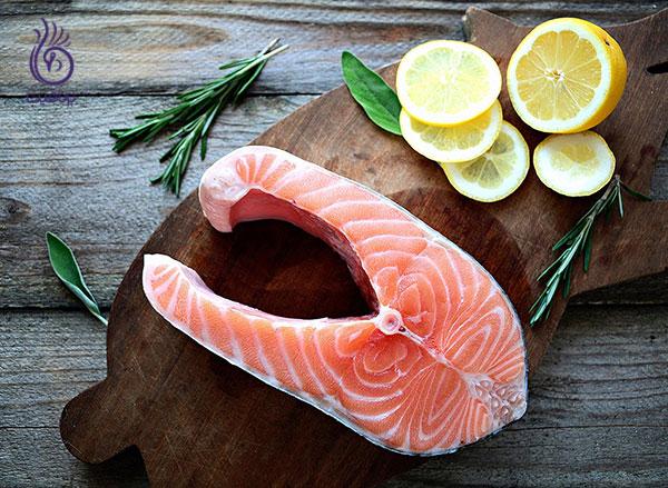 رژیم لاغری شکم- سالمون- برنافیت