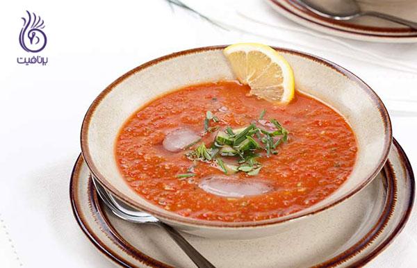 سوپ رژیمی- سوپ سالسا مرغ- برنافیت