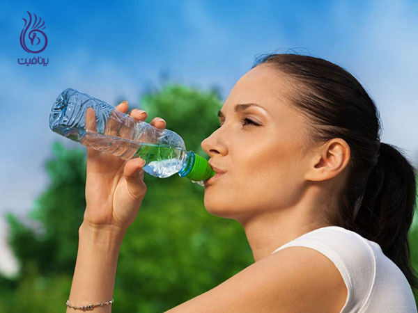چاقی شکم- نوشیدن آب- برنافیت