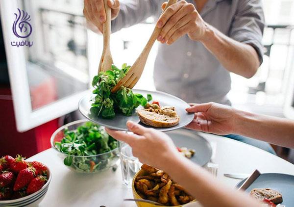 چاقی شکم- غذاهای سالم- برنافیت