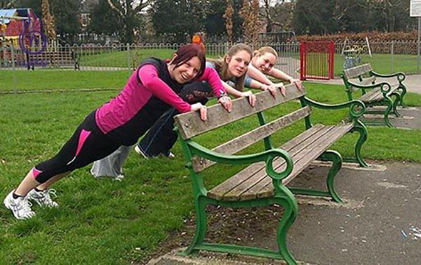 ورزش برای زنان- پوش آپ- برنافیت