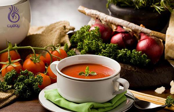 سوپ رژیمی- سوپ گوجه- برنافیت