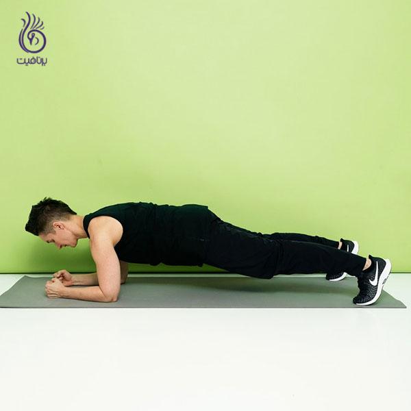ورزش های شکم- forearm-plank- برنافیت