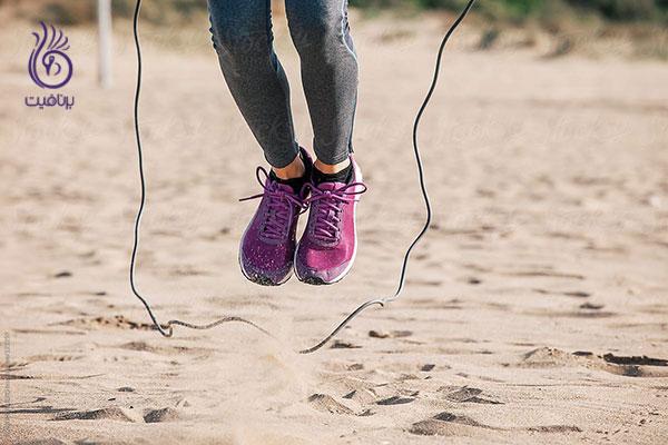 ورزش برای زنان- طناب زدن- برنافیت