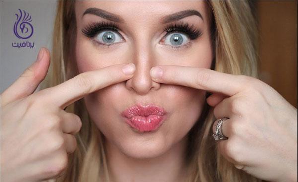 کوچک کردن بینی- فشار با انگشت- برنافیت
