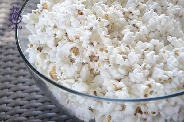 منابع کربوهیدرات سالم- پاپ کورن- برنافیت