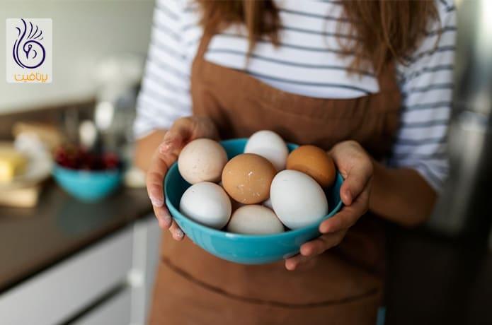 تخم مرغ و رفع جوش وصورت چرکی