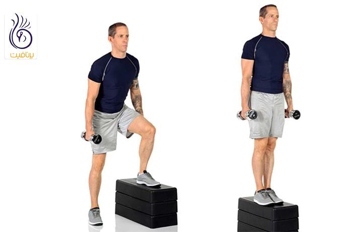 حرکت ورزشی استپ از بغل
