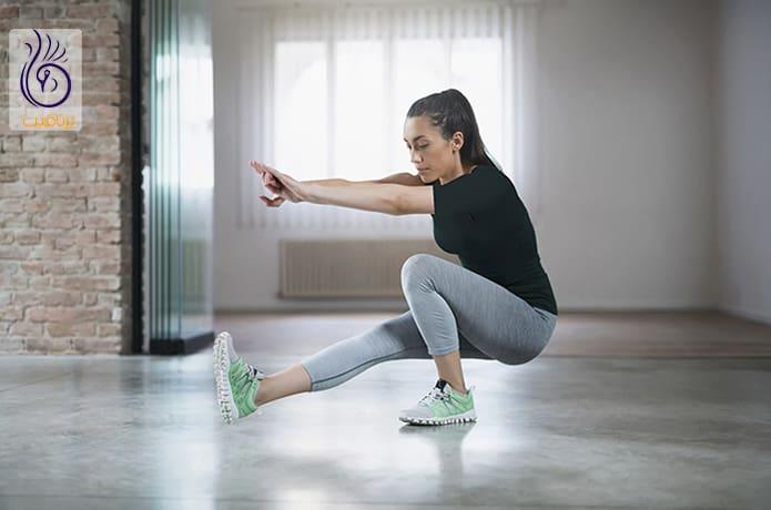 حرکت ورزشی اسکوات پیستول