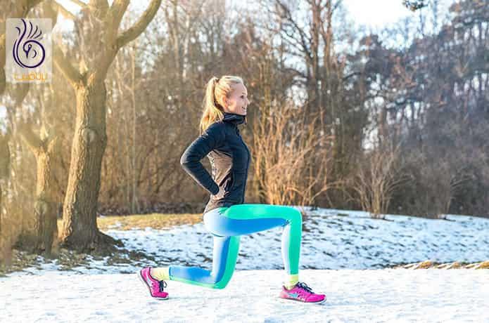 حرکت ورزشی واکینگ لانج