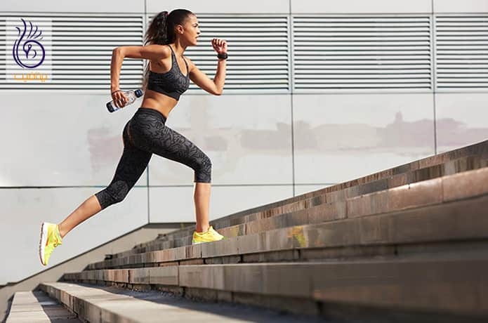 پیاده روی یا دویدن بر روی پله و سریع