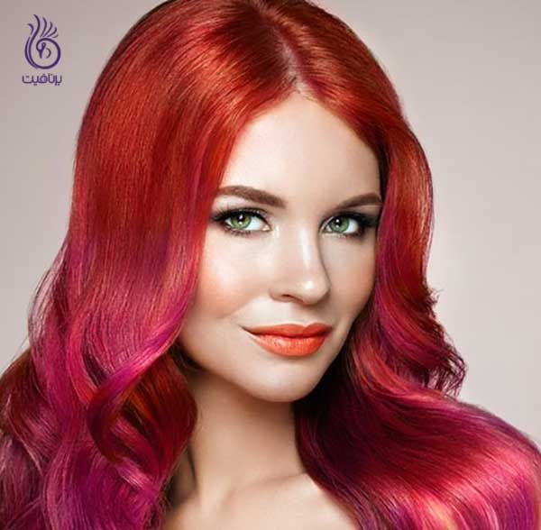 رنگ مو قرمز
