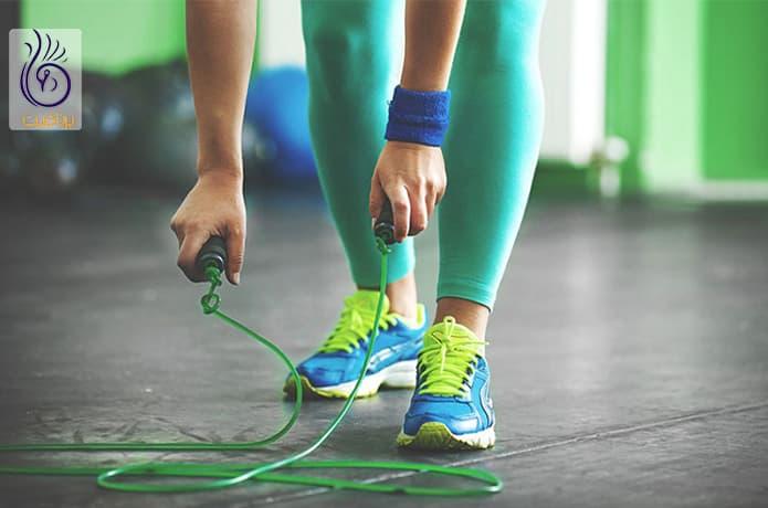 طناب زنی و خوش فرم کردن ساق پا