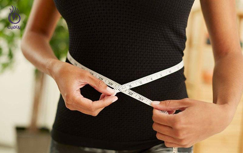 کاهش سایز دور کمر- کاهش وزن ناگهانی