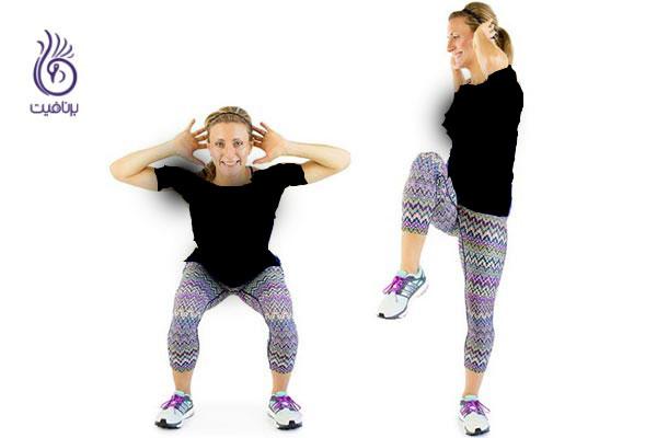 Squat with Twist ورزش چربی سوز
