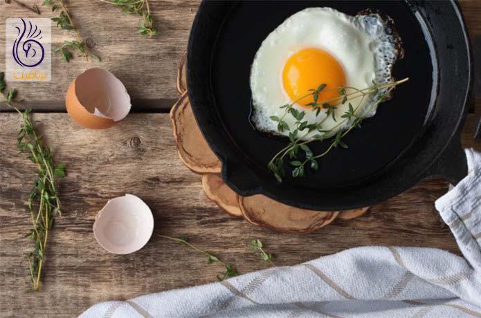 مصرف تخم مرغ برای آب کردن پهلو