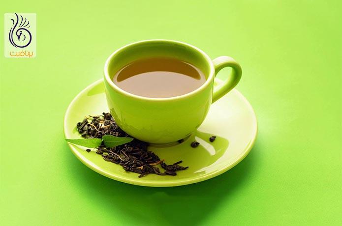 مصرف چای سبز برای آب کردن پهلو
