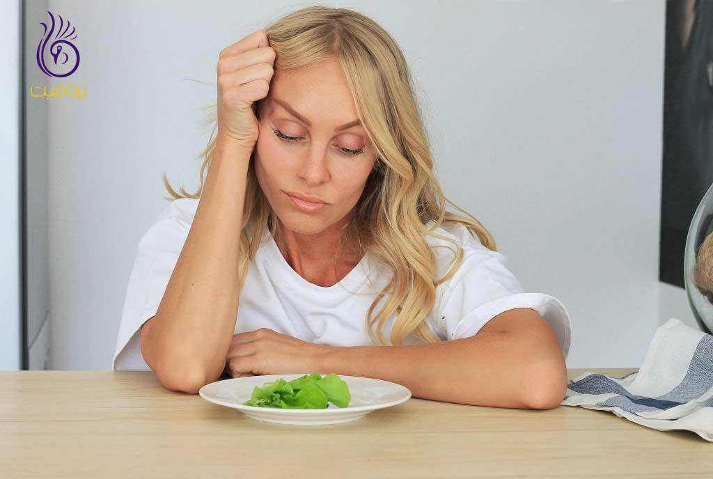 کاهش وزن همراه با افسردگی