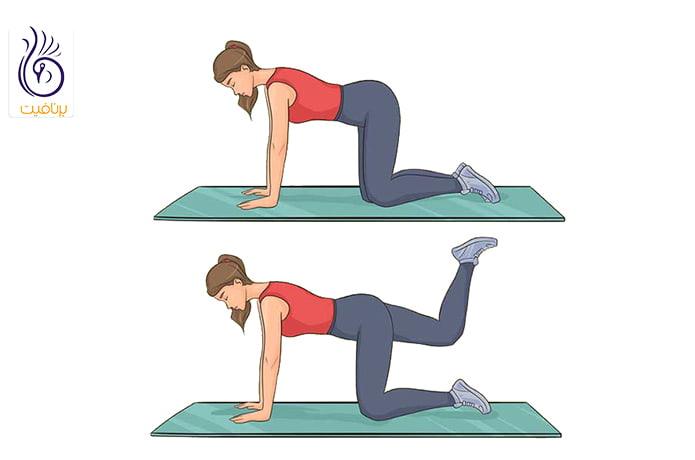 حرکت ورزشی و لاغری دور کمر