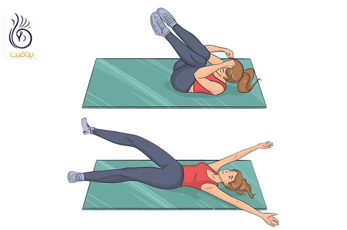 حرکات ورزشی و لاغری دور شکم