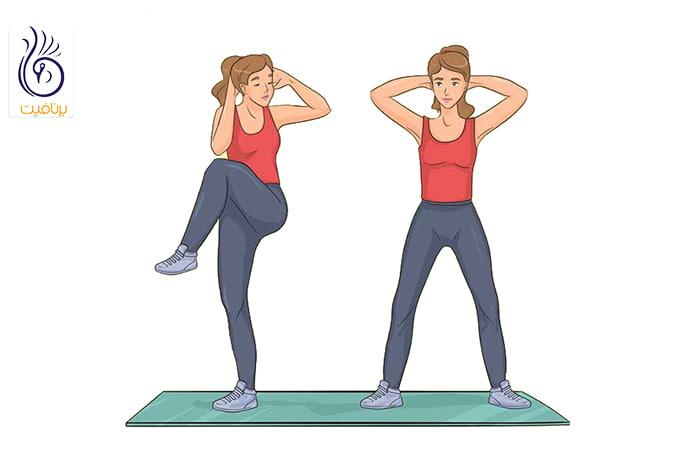 لاغری دور شکم با حركت ورزشی