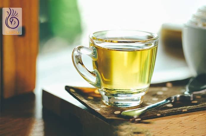چای سبز و لاغری شکم و پهلو