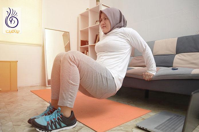 لاغری با ورزش در خانه -دیپ پشت بازو - برنافیت دکتر کرمانی
