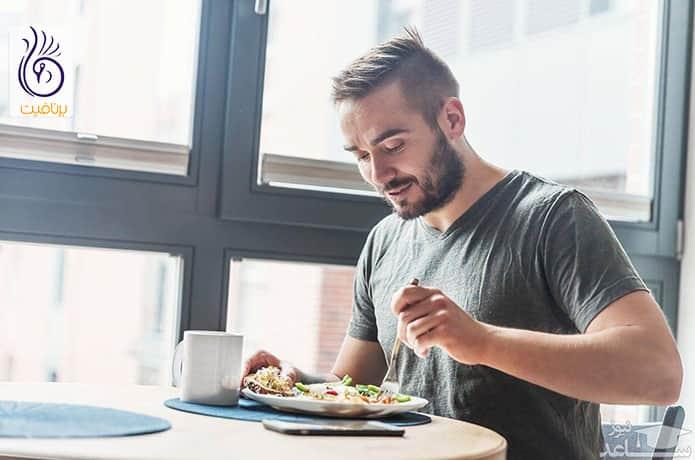 مصرف پروتئین و سبزیجات در برنامه غذایی
